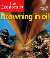 economist cover drowning in oil