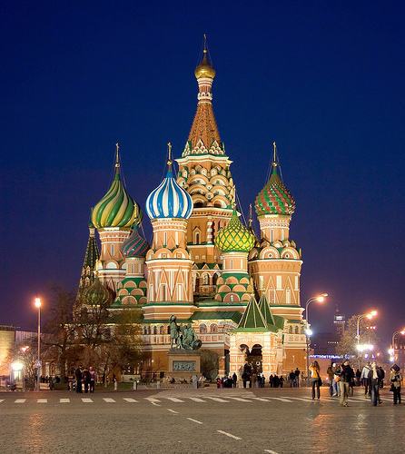Cathedral of St. Basil the Blessed, Red Square, Moscow, Russia, November 8, 2007 by Ivan S. Abrams.