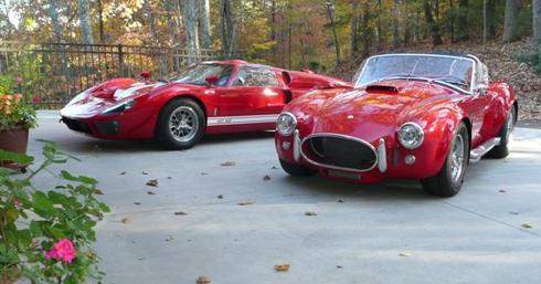 Old Fords - GT 40, AC Cobra
