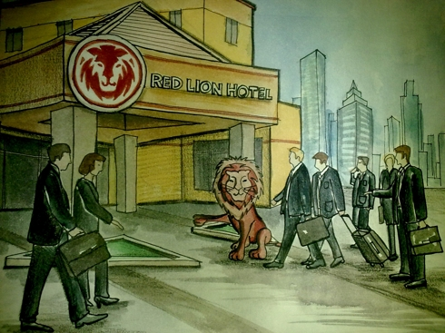 Red Lion Hotel - First UAE Cartoon