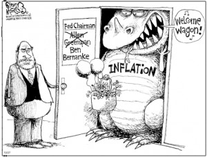 specter of inflation, Bernanke, Alan Greenspan, depression, recovery