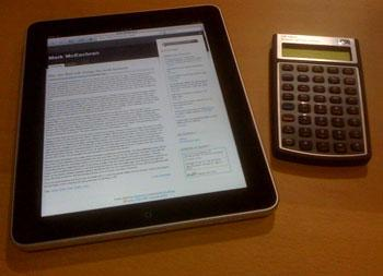 iPad and calculator