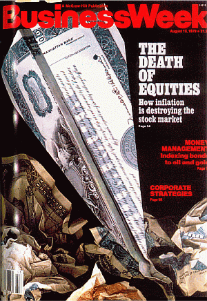 business week cover death of equities Aug 1979 small