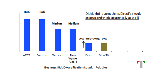 Relative business risk diversification for service providers
