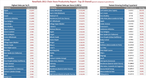 RetailSails 2011 Chain Store Productivity Report