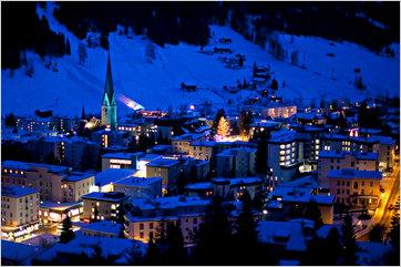 The town of Davos, Switzerla