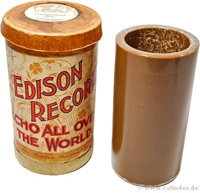 """Edison Brown Wax Cylinder 1899"" Courtesy of www.cylinder.de"