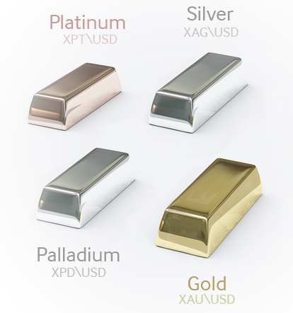Gold Silver Platinum Palladium
