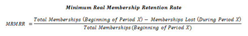 Minimum Real Membership Retention Rate
