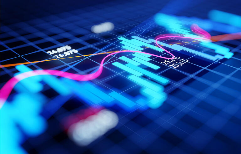 Economy Business and Investment Stock Chart