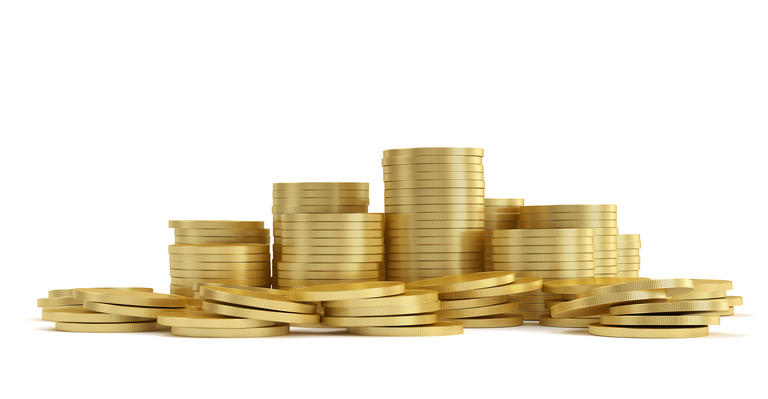 Gold coin isolated 3d rendering