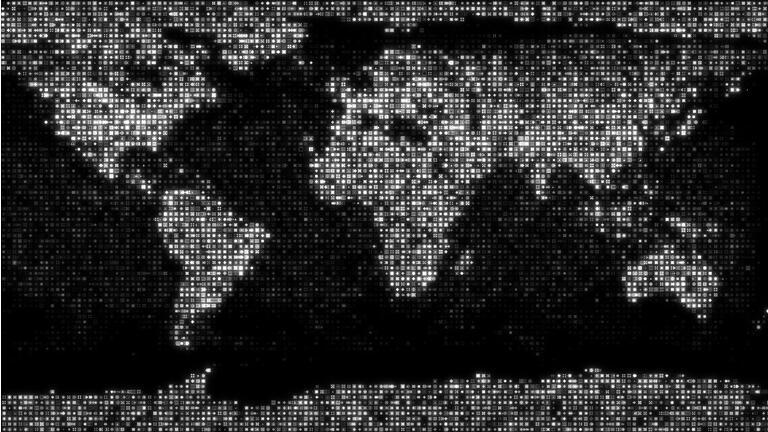 World Map, Global Business, Global, Map, Blockchain