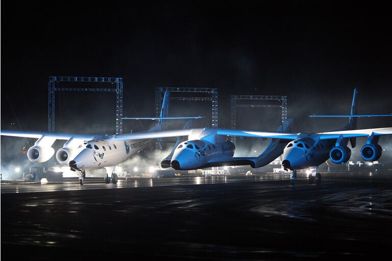 """Virgin Galactic""""s SpaceShipTwo, First Commercial Spacecraft, Unveiled In CA"""