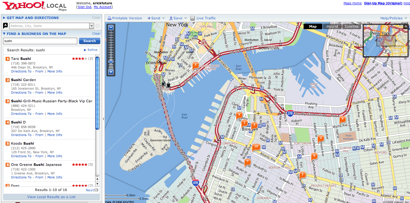 Yahoo Maps Get More Local Data | Seeking Alpha on a to b driving directions, maps and directions, mapquest directions,