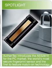 AuthenTec's AES 2810 Sensor