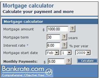 Merveilleux Figure 6: Bankrate Mortgage Calculator