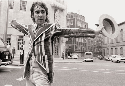 Keith Moon, The Who, London BBC 1973 by Michael Putland
