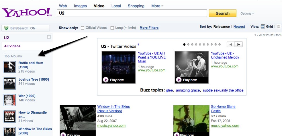 Yahoo Responds to Google Music Search by Searching YouTube