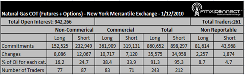 NYMEX Henry Hub Natural Gas COT Report