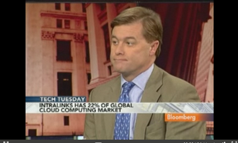 Intralinks CEO, Bloomberg Interview Screenshot, Courtesy: Bloomberg