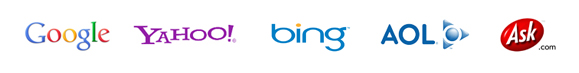 logos of major search engines
