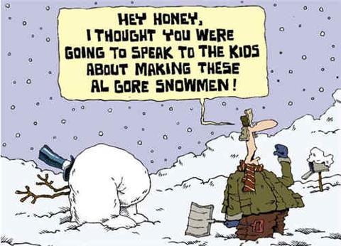Al Gore Snowman.