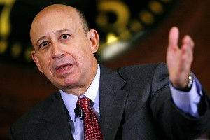 Loyd Blankfein, CEO of Goldman Sachs