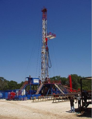 Rig currently drilling the Vic Two Well in Lee County