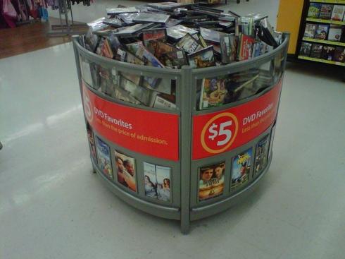 Walmart $5 DVD bin