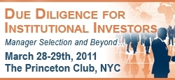 Due Diligence for Institutional Investors conference