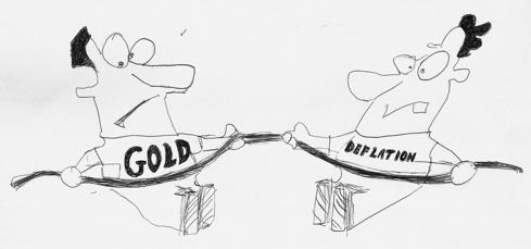 Tug of War Between Gold Bugs & Deflationists
