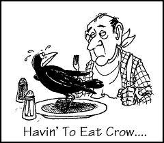Image result for eating crow