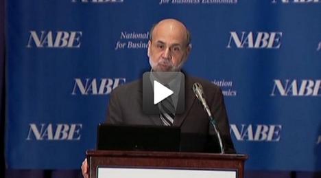 Bernanke NABE Speech