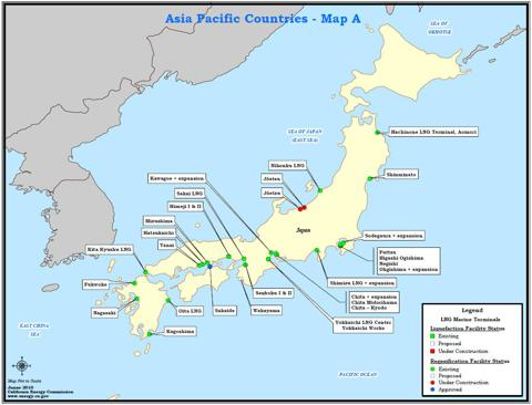 Japan LNG REGAS terminals 2