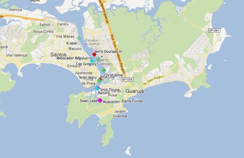 Port of Santos in Brazil