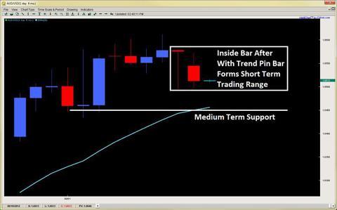 inside bar pin bar price action trading 2ndskiesforex.com aug 13th