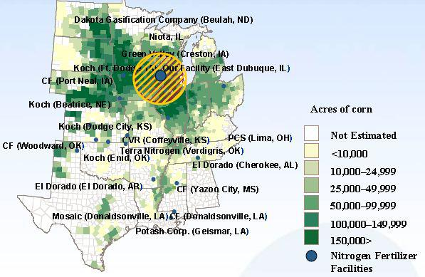 Port Neal Iowa Map.12 78 Dividend Payer Rentech Nitrogen Partners Lp Is A Perfectly
