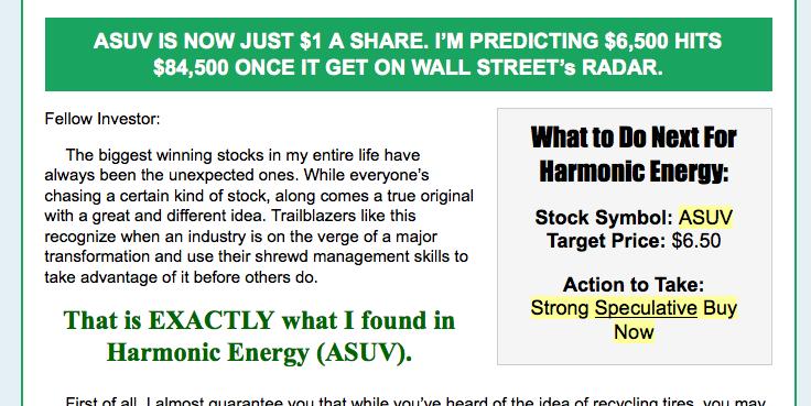 Harmonic Energys Stock Promotion Enriching Insiders While Leaving