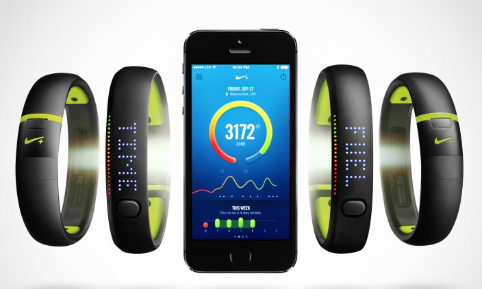 ... have positioned Nike in the digital health monitoring market. The  wearable FuelBand bracelet measures one's movements throughout the day and  tells how ...