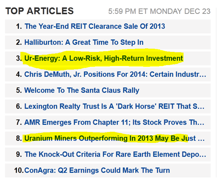 Progress Energy Stock Quote: Ur-Energy: A Uranium Giant In The Making