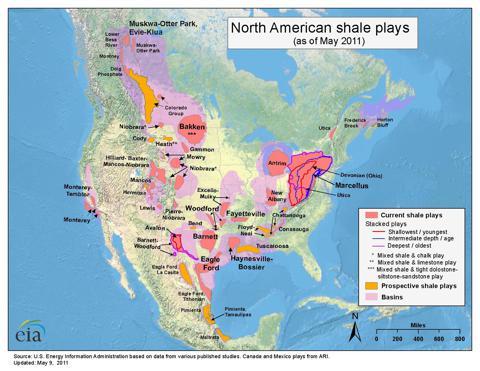 EIS shale plays 2011
