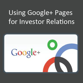google+ investor relations