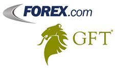 Forex.com and GFT logos