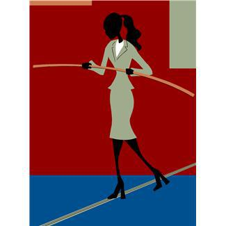 balancing,balancing acts,businesses,businesswomen,challenges,metaphors,persons,risks,tightropes,walking the line,women
