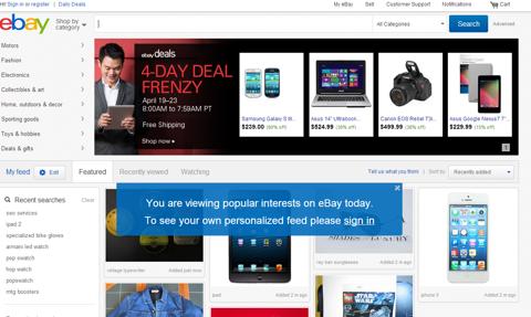 eBays Revamped Look