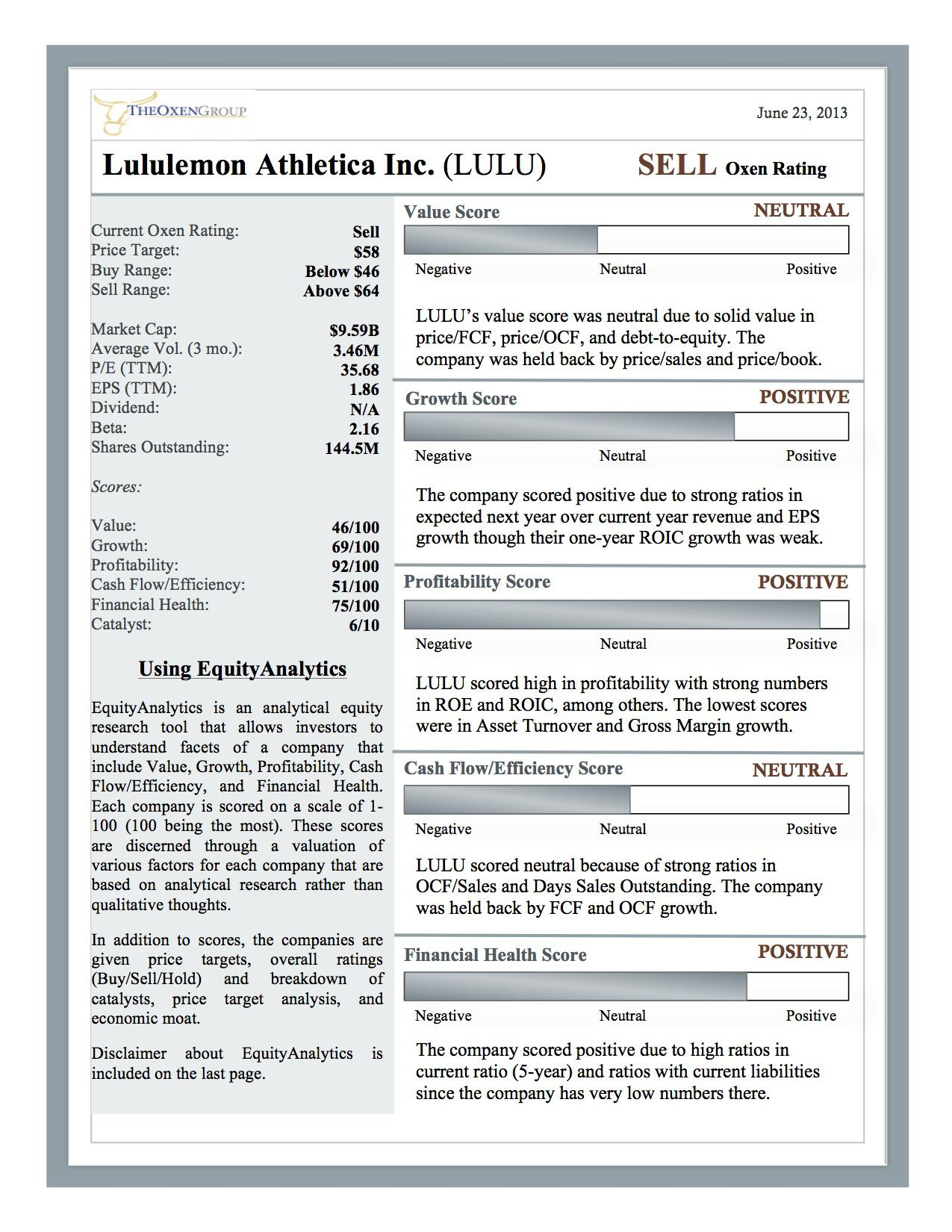 lululemon athletica inc case analysis Dennis a ritchie instructor: mike shelton gba 490 online: strategic management case analysis: lululemon athletica company history lululemon is a canadian based retail company specializing in athletic, yoga-inspired apparel for active men and women.