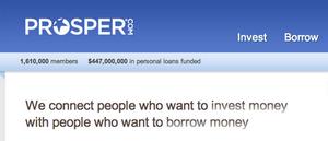 Prosper Alternative Investing Borrowing