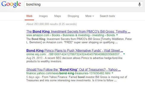 Ask Google: Bill Gross and PIMCO are the Bond Kings