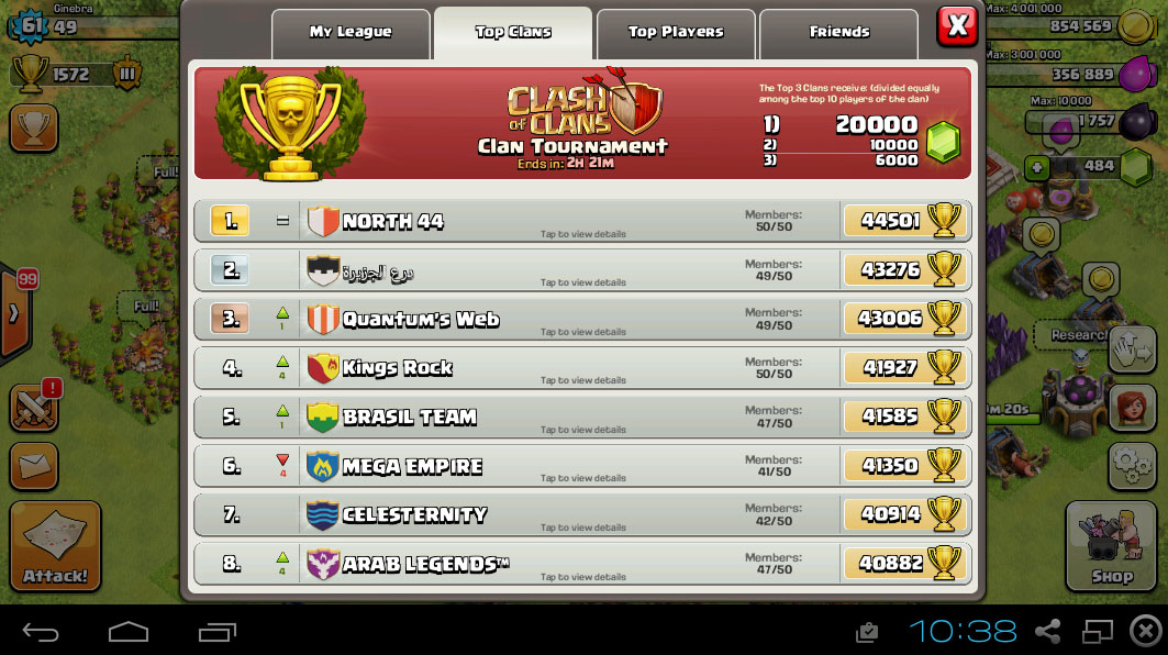 clash of clans money per day