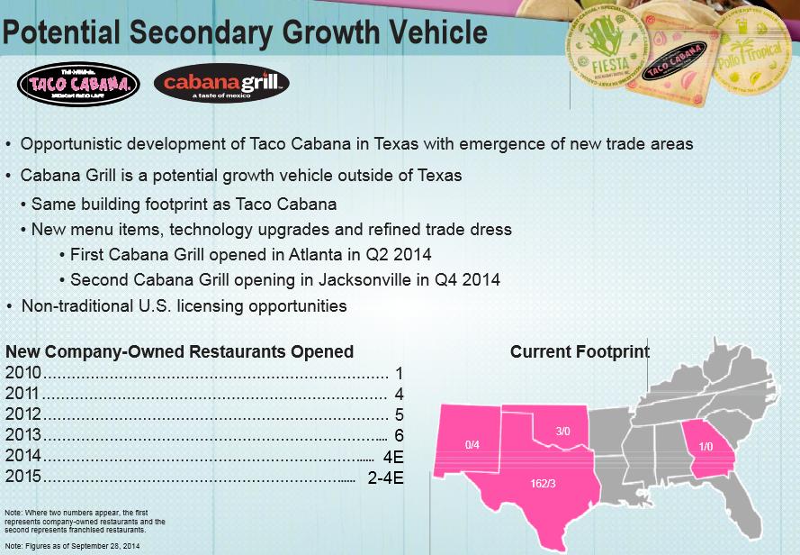 Taco Cabana Locations Map on